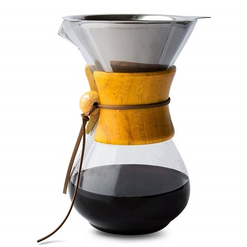 Comfify Pour Over Coffee Maker with Borosilicate Glass Carafe