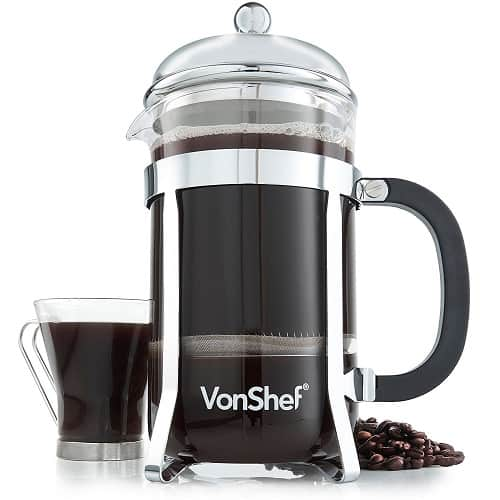 VonShef French Press Glass Cafetière – Best Budget