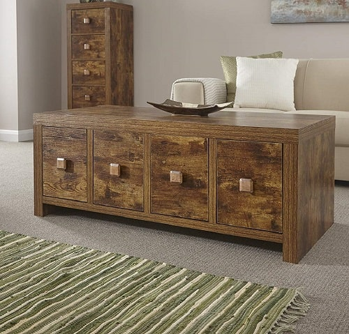 Home Source Walnut Mango Effect Coffee Table