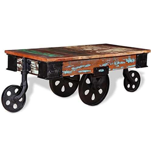 Industrial Reclaimed Wood Coffee Table