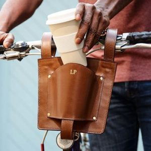 Leather Coffee Cup Holder For Bikes