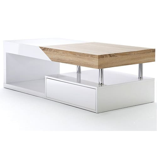 ModaNuvo 'Hope' Modern High Gloss Extending Storage Coffee Table