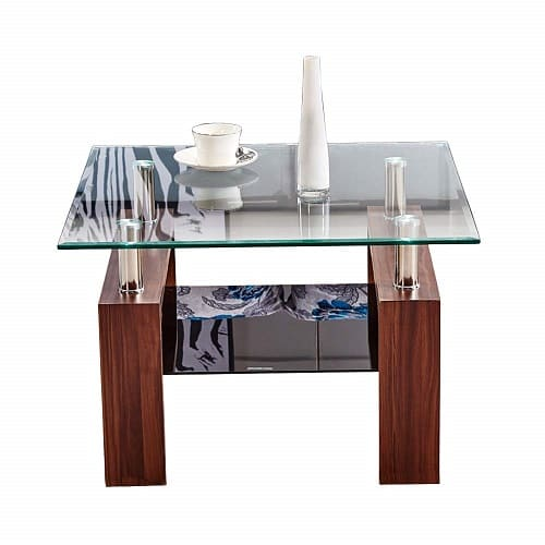 Tason Modern Design 2 Tier Coffee Table