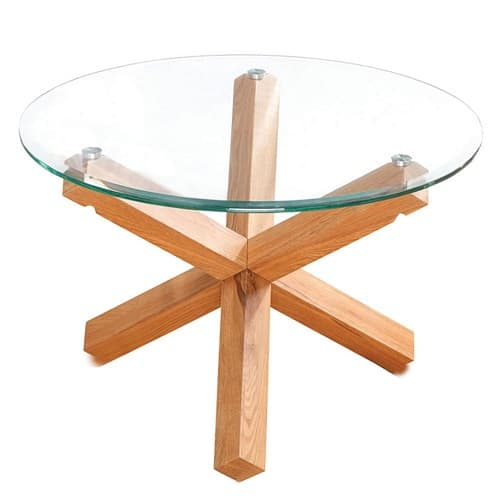 Oporto Glass Topped Round Table