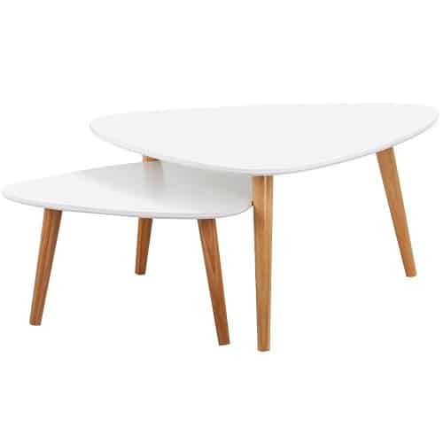Popamazing Set of 2 Modern Nest Tables