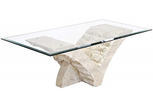 Seagull Coffee Table with Fine Mactan Stone Base