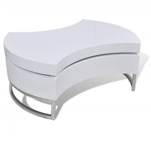 Modern White Swivel Coffee Table