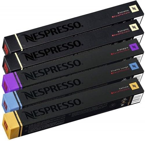 50 Nespresso Decaffeinated Capsules