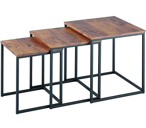 ASPECT Alana Set of 3 Nesting Table-Vintage Wooden