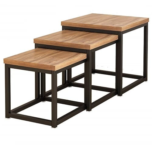 Cherry Tree Furniture CLIVE Walnut Nesting Tables