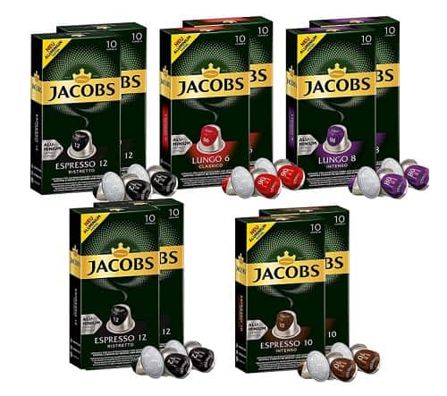 Jacobs Aluminium Nespresso Compatible Coffee Pods