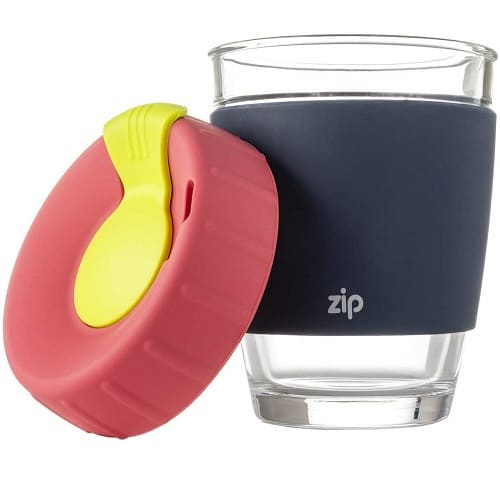 Zip Reusable Glass Eco Coffee Cup