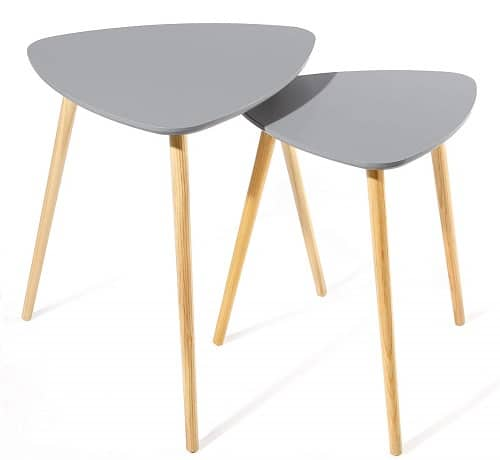 SONGMICS Scandinavian Nesting Side Table
