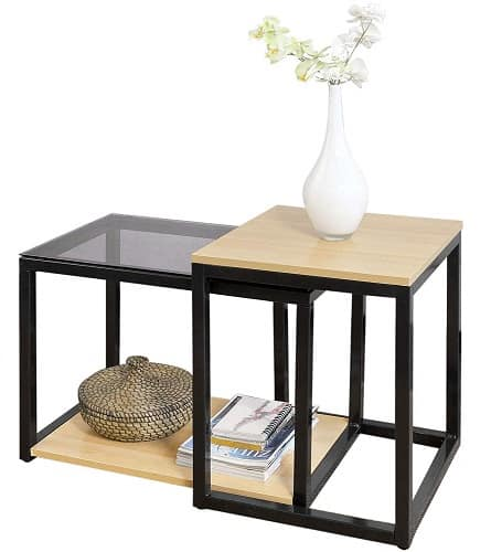 SoBuy® FBT35-SCH Nesting Table