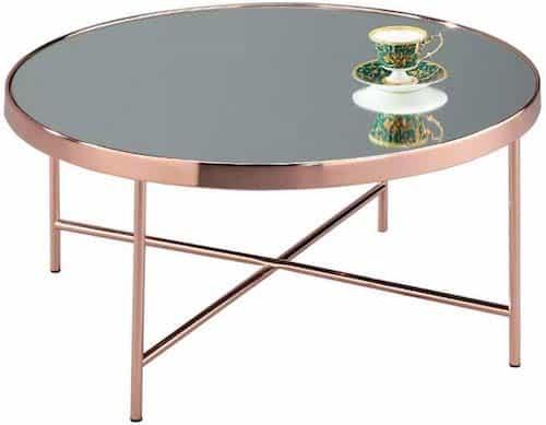 ASPECT Fino Mirrored/Glass Round Coffee Table