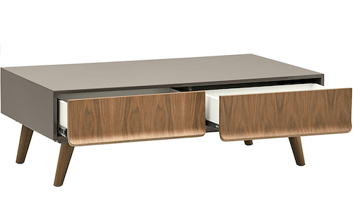 Rivet Lacquer 2-Drawer Coffee Table