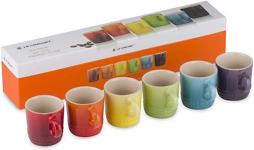 Le Creuset Stoneware Rainbow Espresso Mugs