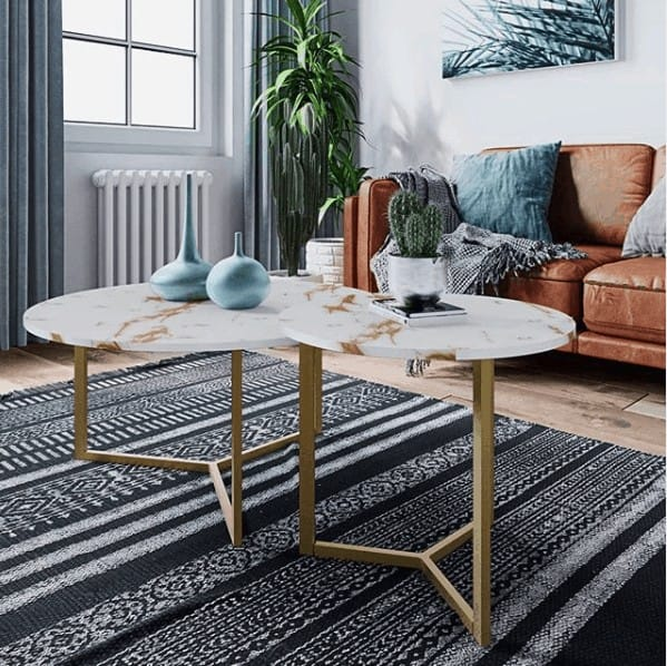 golden legged coffee table