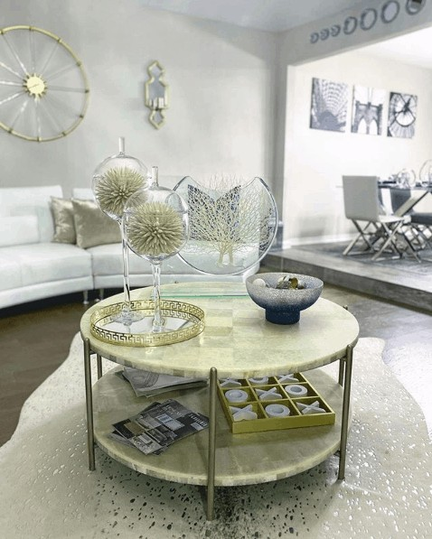 coffee table with multi-tiers