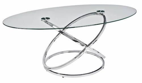 Argos Home Atom Glass Coffee Table