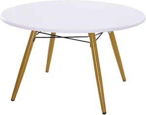 HOMCOM Modern Round Coffee Tea Table