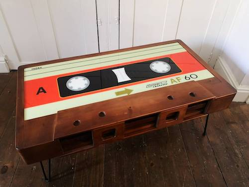 Cambrewood Handmade Cassette Coffee Table