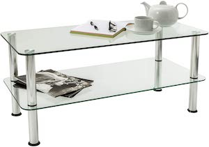 Mountright 2-Tier Glass Table