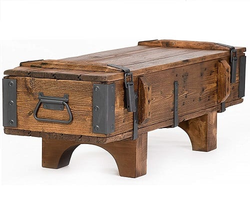 Own Design Antique Rustic Style Coffee Table