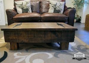 RusticOwl Storage Coffee Table