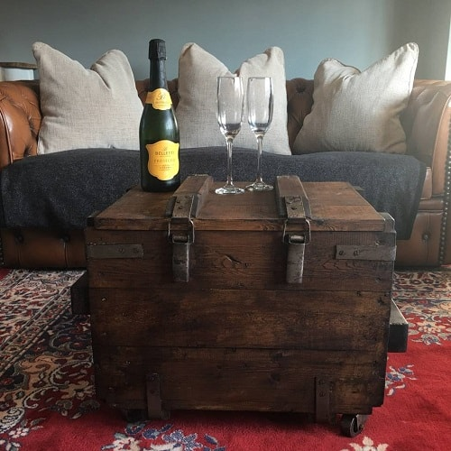 Upcycled Vintage Trunk Coffee Table