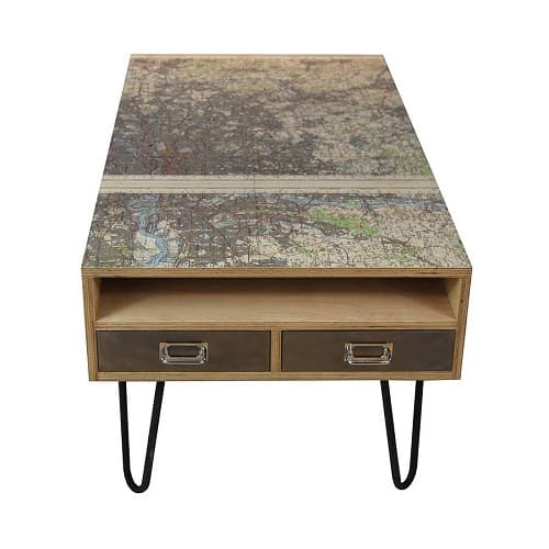 Vintage London Map Coffee Table