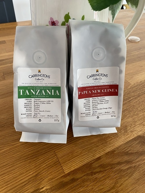 Carringtons Coffee Co Flavours