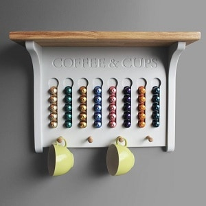 Wall Mounted Coffee Pod Holder by Chatsworth Cabinets