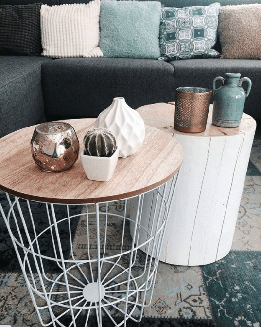 stump and wire coffee table plan