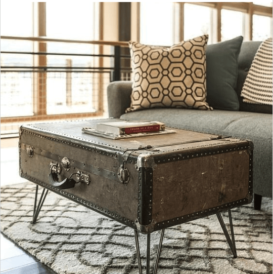 diy coffee table suitcase plan