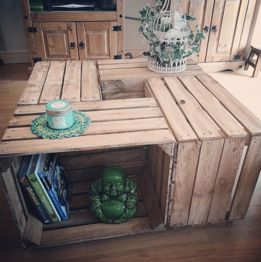 how to make diy coffee crate table