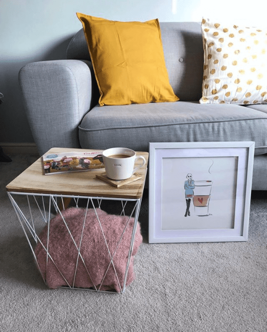 coffee table basket with storage