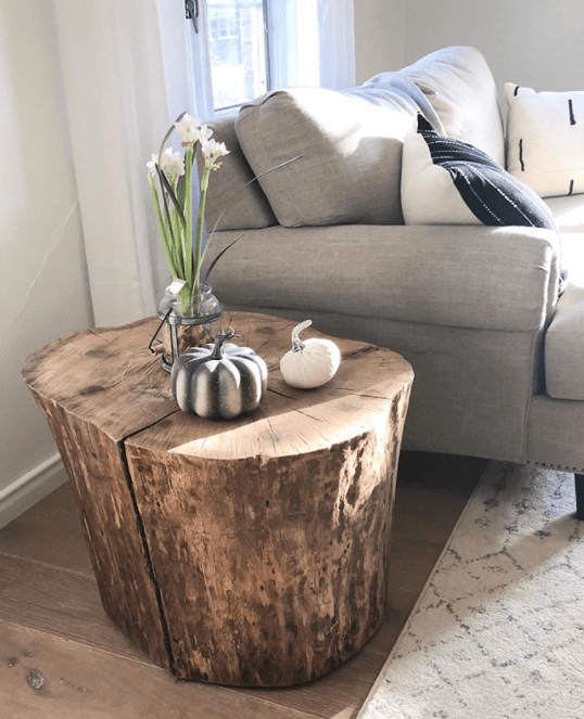 best tree stump coffee tables
