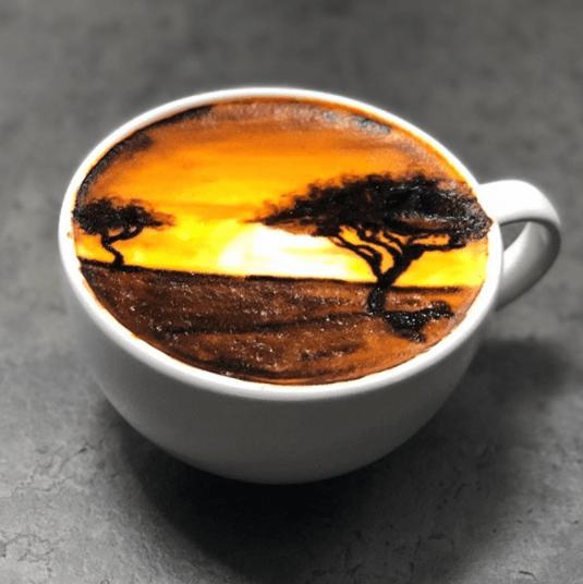 african horizon latte art