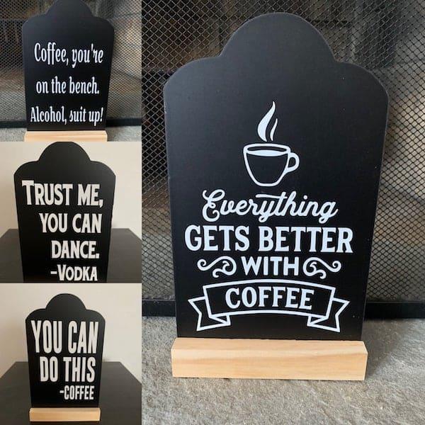 Coffee Chalkboard Standing Sign