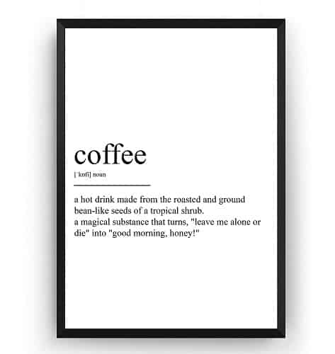 Magic Posters Coffee Definition Print