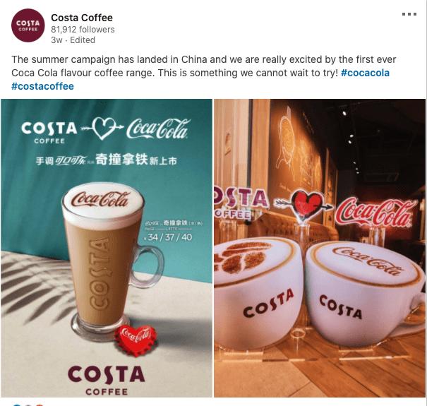 Costa Coffee Releases A New Coca Cola Flavour