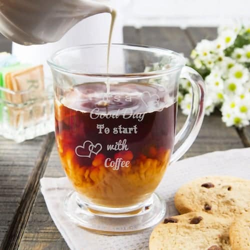 Lazer Girlz Personalised Glass Coffee Mug