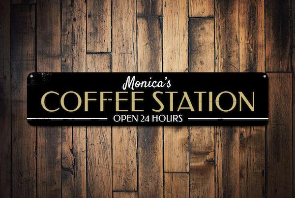 Coffee Station Sign Deco
