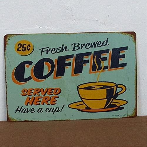 Retro Fresh Brewed Coffee Sign