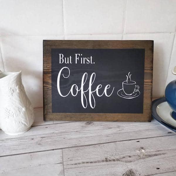 Rustic Coffee Wall Sign