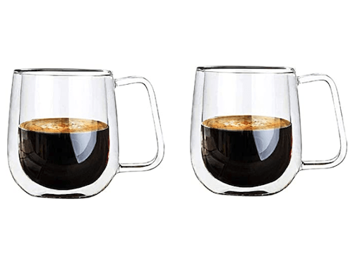 Vicloon Double Walled Glass Mugs