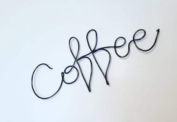 Wire Coffee Sign