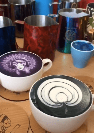 pouring skills for a barista