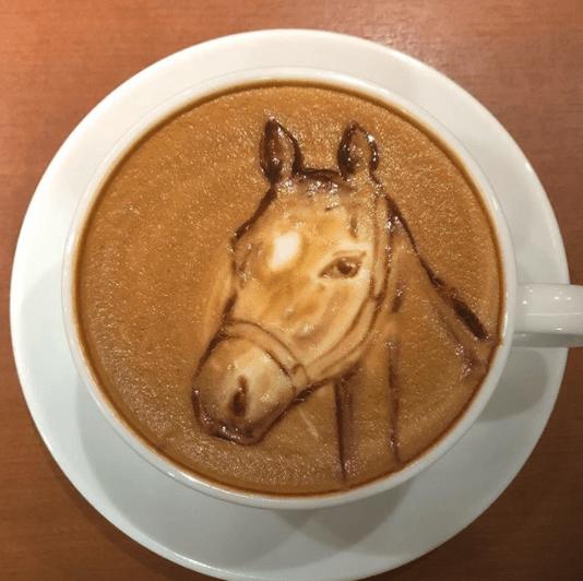 amazing animal latte art